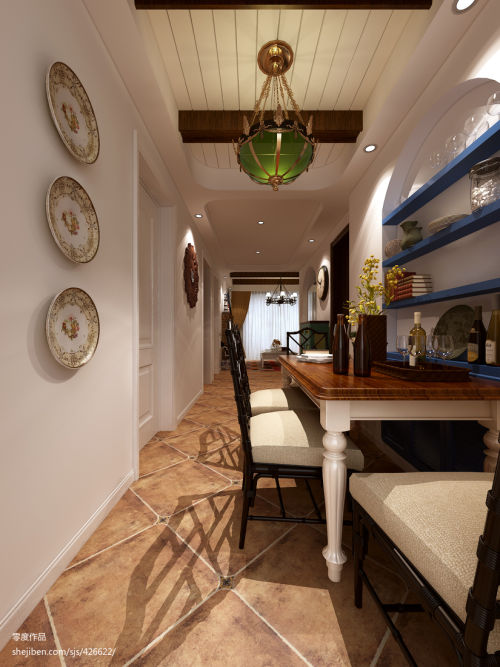 热门面积88平地中海二居餐厅效果图片欣赏厨房