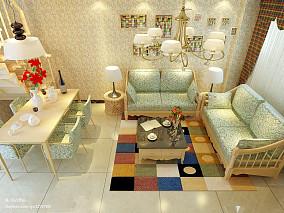 英式田园风格小户型室内装修设计