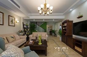 热门面积120平别墅客厅美式实景图片