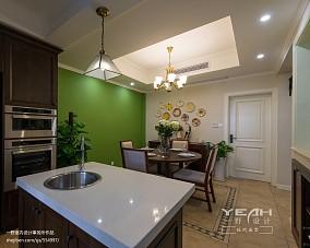 热门面积134平别墅餐厅美式装修效果图片
