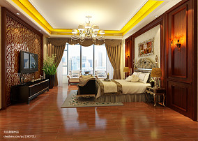 面积118平欧式四居卧室装修设计效果图片欣赏