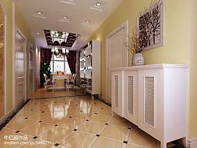 热门面积101平欧式三居玄关装修设计效果图