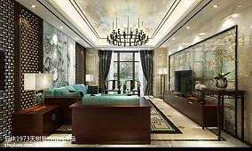 2018别墅客厅中式装修图