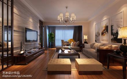 精选面积105平中式三居客厅装饰图片大全客厅