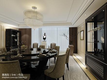 2018精选132平米新古典别墅餐厅装饰图片大全