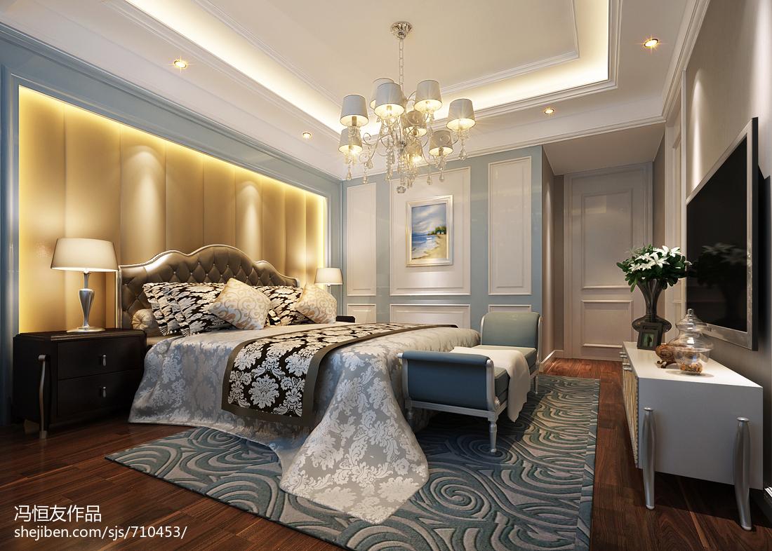 2018面积137平复式卧室欧式装修效果图
