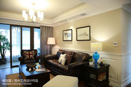 精选面积120平美式四居客厅装修欣赏图客厅