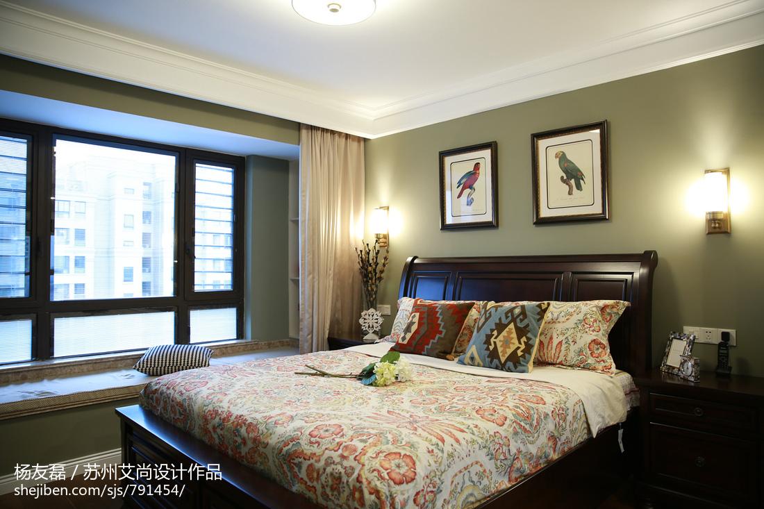 美式卧室窗户装修功能区美式经典功能区设计图片赏析