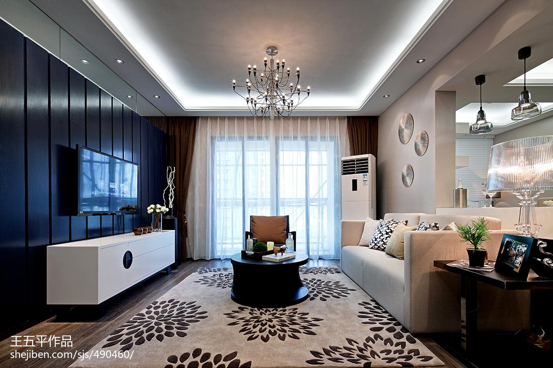 现代客厅电视背景墙装修图片客厅窗帘现代简约客厅设计图片赏析