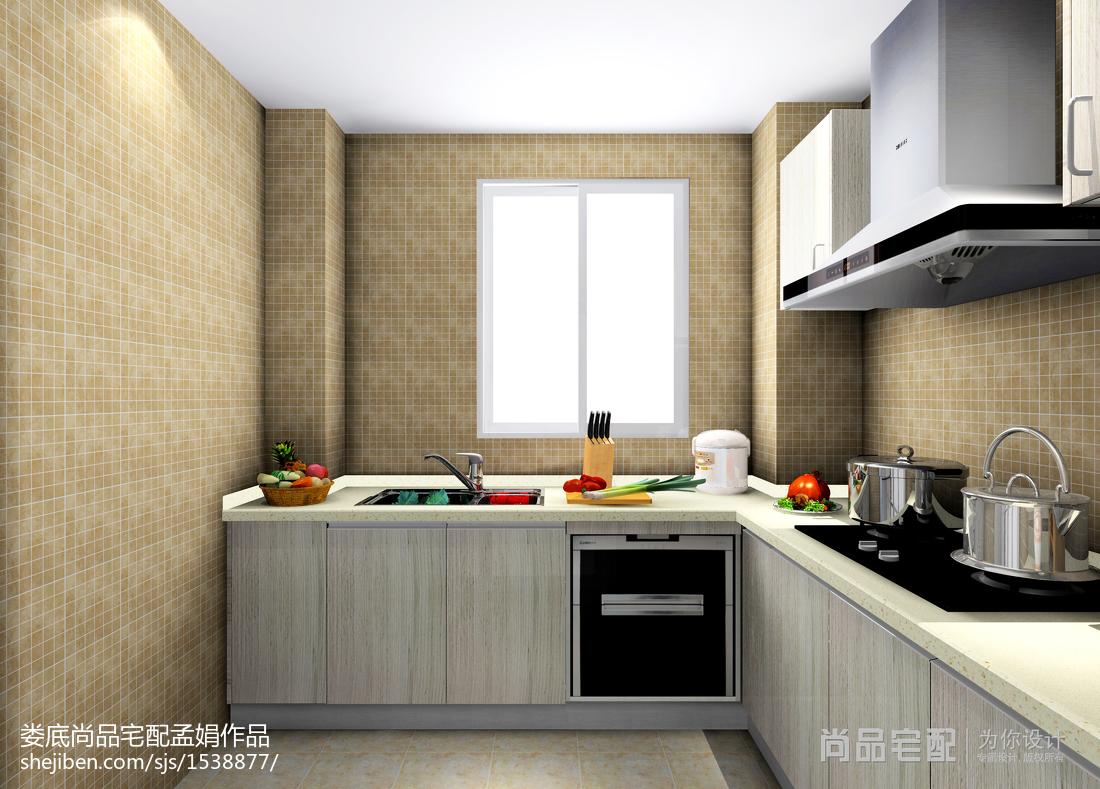 精选面积86平现代二居厨房装修设计效果图餐厅现代简约厨房设计图片赏析
