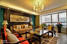 2018127平米中式别墅客厅装修图片