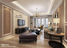 精美面积100平美式三居客厅实景图片大全