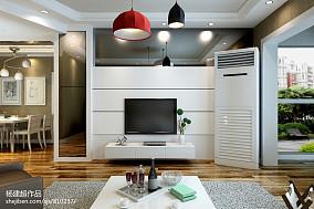 精选95平方三居客厅现代装修效果图片欣赏
