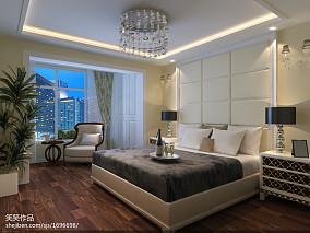 热门面积99平现代三居卧室装修实景图片