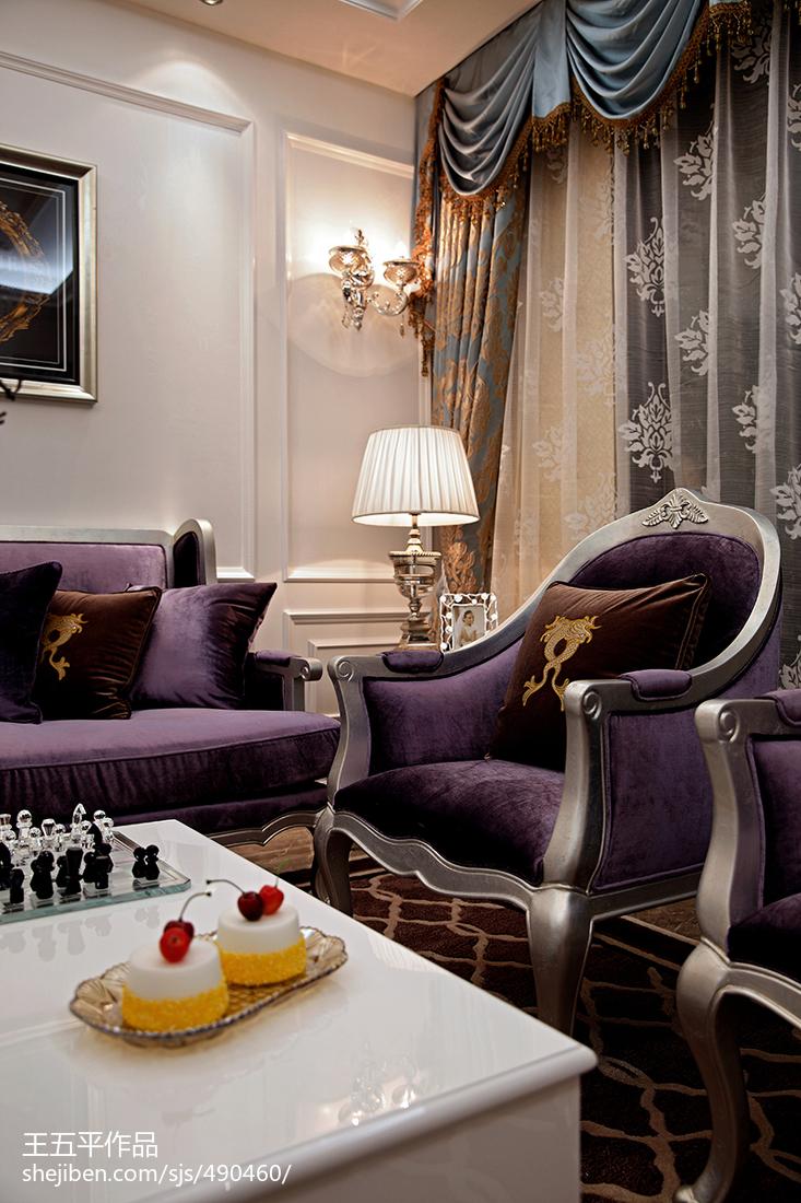 新古典风格样板房客厅窗帘装修效果图大全客厅1图