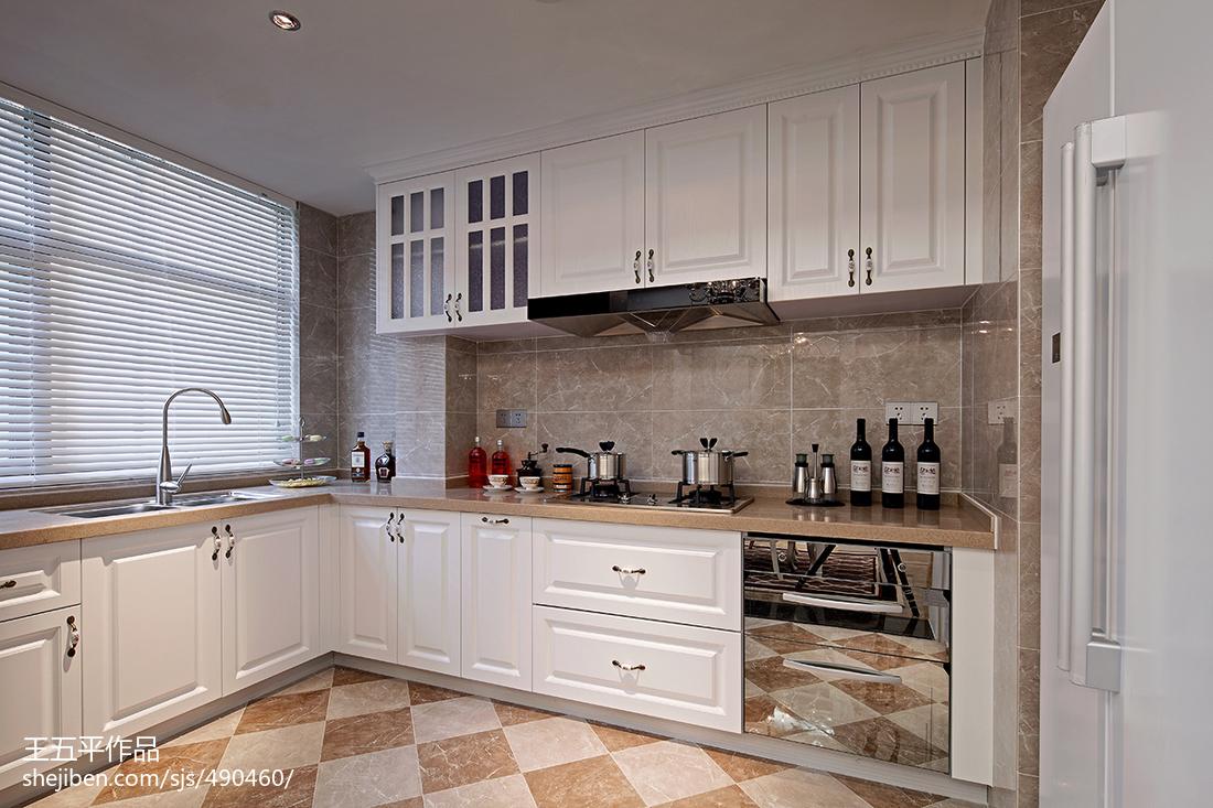 新古典风格厨房装修效果图大全餐厅美式经典厨房设计图片赏析
