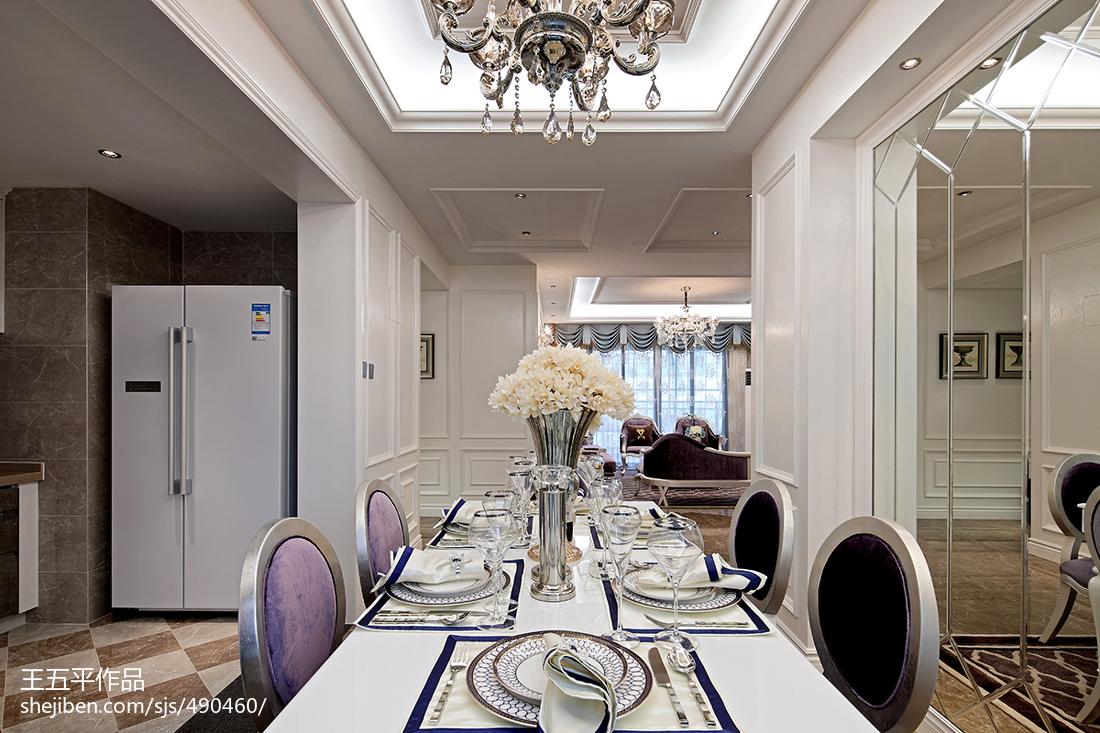 新古典风格样板房餐厅吊顶装修图厨房美式经典餐厅设计图片赏析