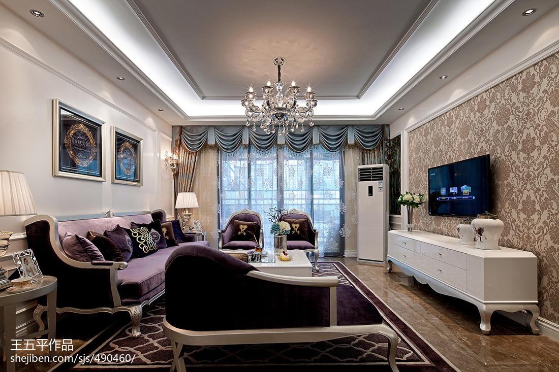 新古典风格样板房客厅吊顶装修效果图大全2017图片客厅2图