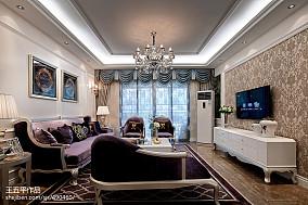 新古典风格样板房客厅吊顶装修效果图大全2017图片客厅美式经典客厅设计图片赏析