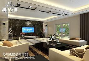 热门面积111平别墅客厅现代装饰图片大全