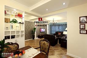 热门大小96平美式三居客厅装修效果图片