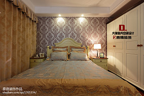 精选面积128平复式客厅美式设计效果图