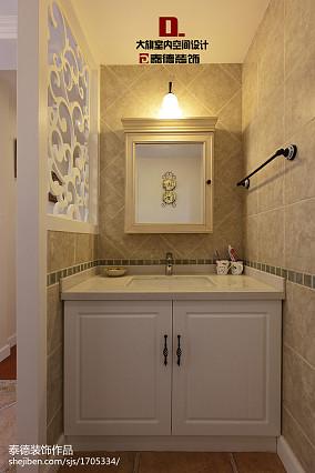 精美面积111平复式客厅美式装修效果图片欣赏