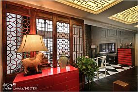 精选114平米中式别墅玄关实景图片欣赏
