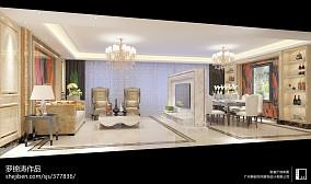 精选面积124平欧式四居客厅效果图