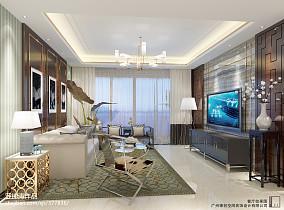 精选106平米三居中式装修设计效果图片