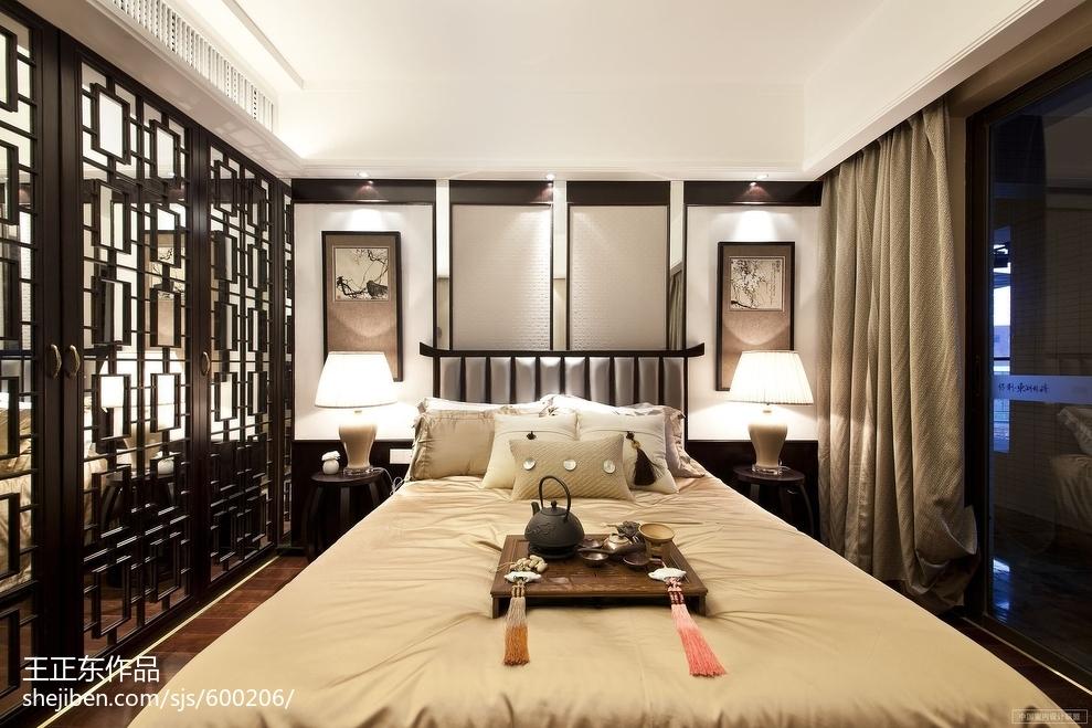 中式风格卧室隔断装修效果图大全2017图片卧室中式现代卧室设计图片赏析