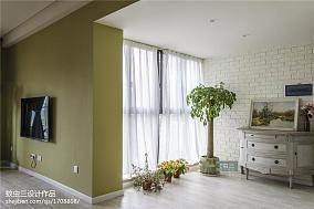 精选面积95平田园三居阳台装修设计效果图片大全