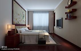 面积108平中式三居卧室装修设计效果图片