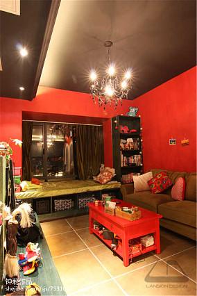 精选面积79平小户型客厅混搭装修设计效果图片欣赏