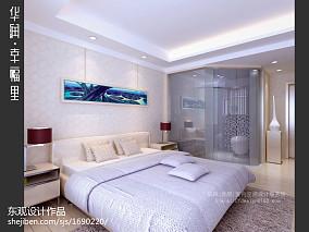 时尚简中式卧室装潢设计
