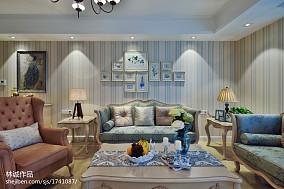 精选97平米三居客厅美式实景图片欣赏