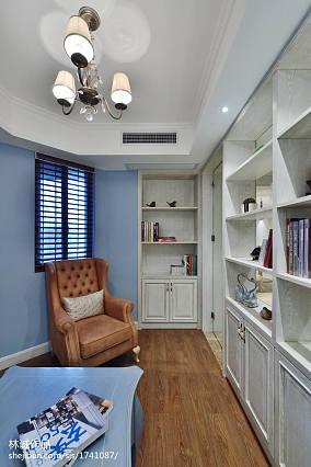精选面积96平美式三居书房实景图片大全