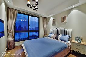 精选面积97平美式三居卧室欣赏图片大全