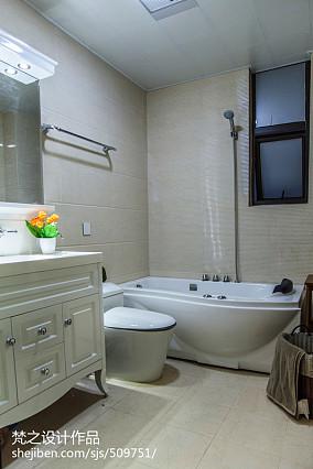 面积104平现代三居卫生间欣赏图片