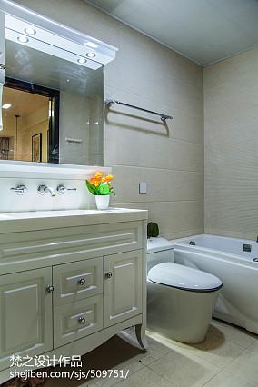 大小106平现代三居卫生间装修实景图片大全