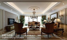 精选面积135平欧式四居客厅效果图