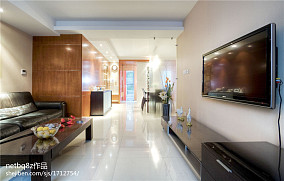 四室两厅装修效果图现代客厅背景墙