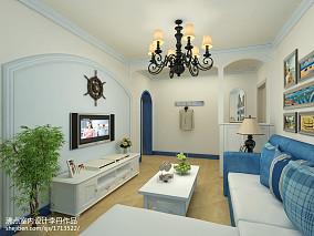 热门74平米二居客厅田园装修效果图片