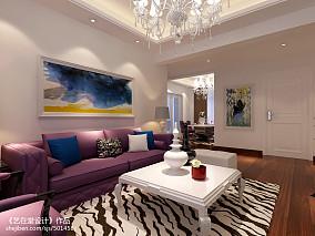 精选面积106平现代三居客厅装修实景图