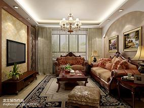 107平米三居客厅美式装修效果图片大全