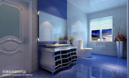 精选面积139平别墅卫生间新古典装修欣赏图片大全