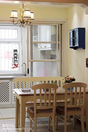 热门三居餐厅田园实景图