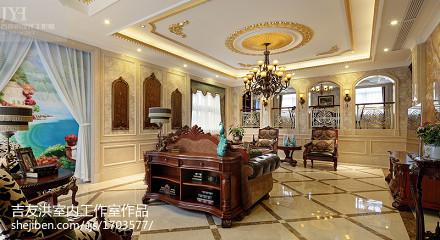 奢华美式风格客厅吊顶装修图