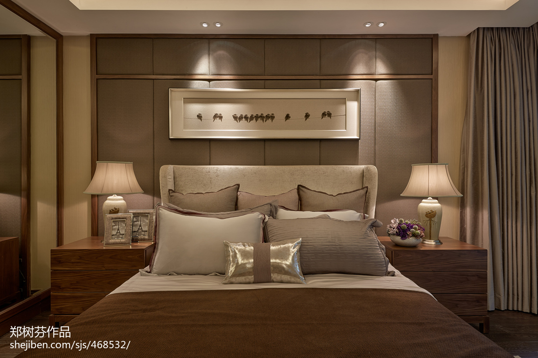 2018中式卧室装饰图片大全客厅中式现代客厅设计图片赏析