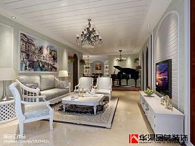 精选96平米三居客厅田园装饰图片欣赏